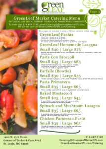 St. Louis homemade pasta and catering