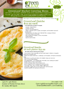 St. Louis specialty quiches for catering and groups