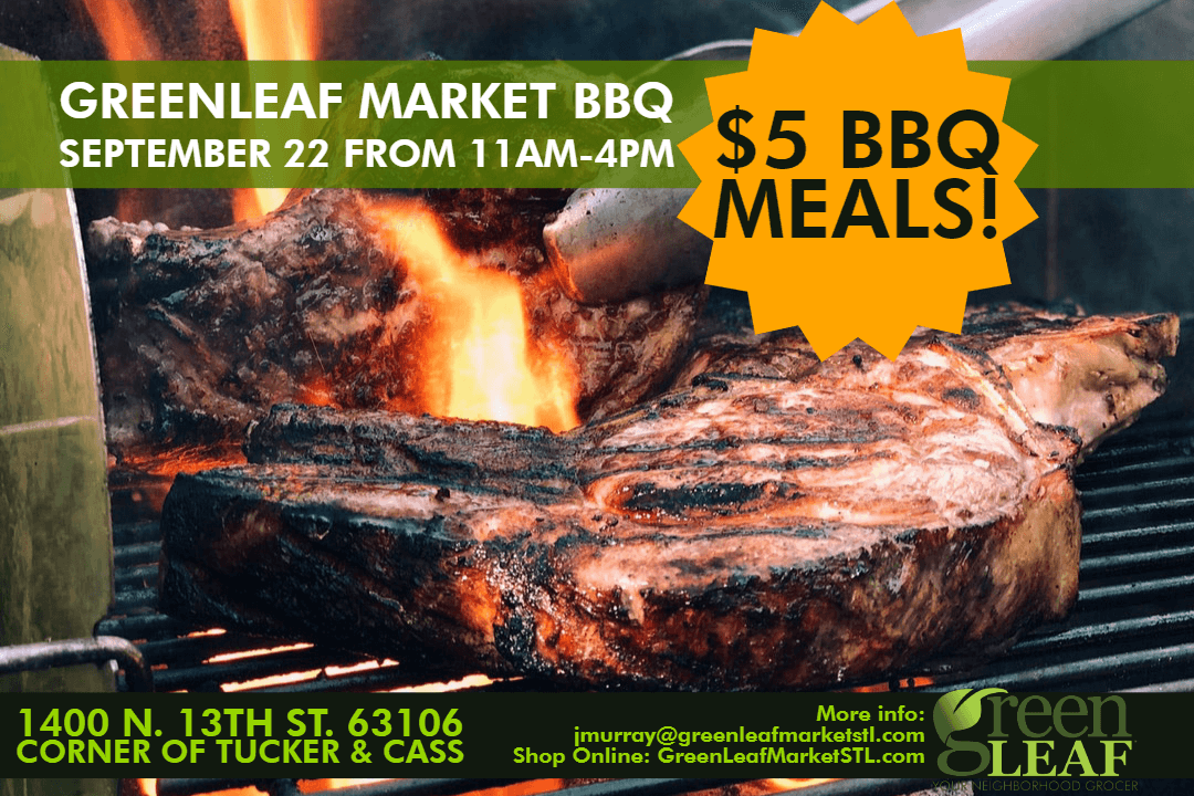 St. Louis BBQ Food Event at GreenLeaf Market September 22