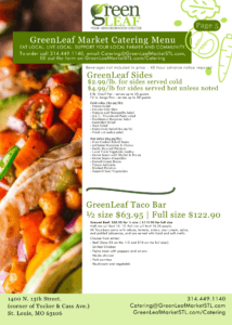 GreenLeaf Market Catering Menu Taco Tuesday and Sides