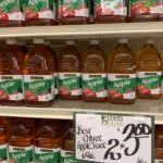 apple juice large bottle 2 for $3