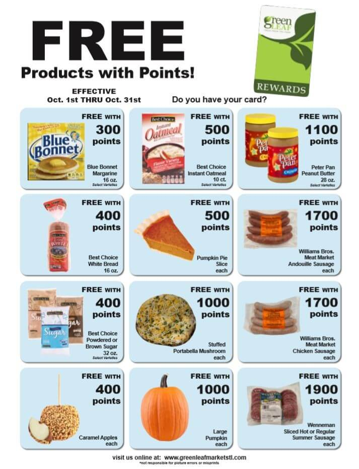 10-1 to 10-31-19 Greenleaf Market Points Specials flyer.png