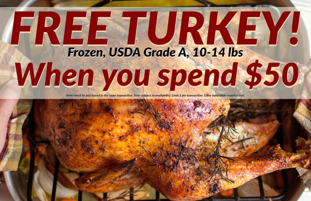 Free turkey with $50 purchase at GreenLeaf Market St. Louis